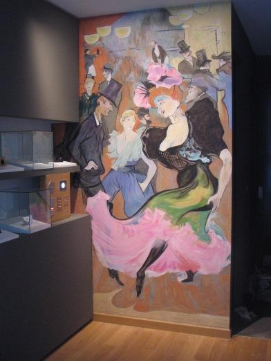 Panneau décoratif façon Toulouse-Lautrec par Christophe Martin.